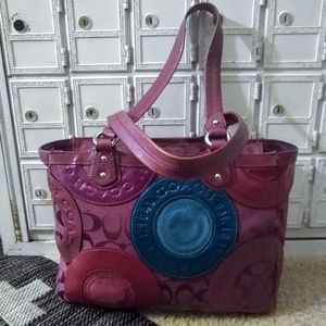 Coach Limited edition patchwork tote pink